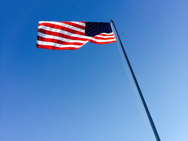 Our flag is flying high here in Clinton