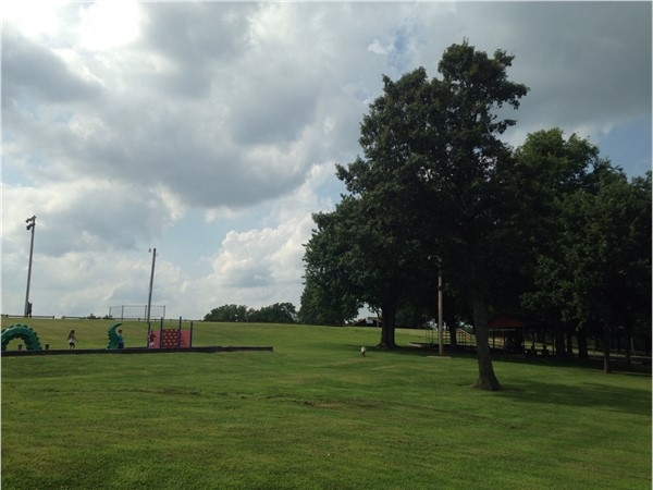 Dyer Park has plenty of playground equipment for the young children with lots of shade trees