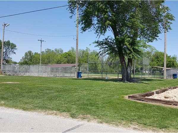 One of the many ballparks located at the Cassville City Park