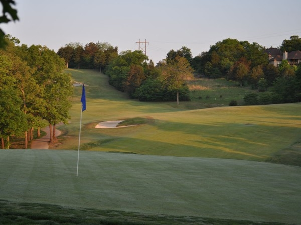 Early morning view of #13 Ledgestone Golf Course, StoneBridge Village