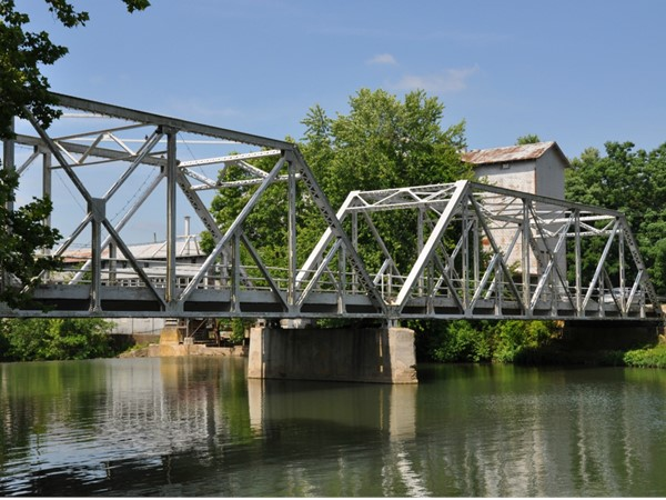 Finley River Bridge with the Old Mill in the background