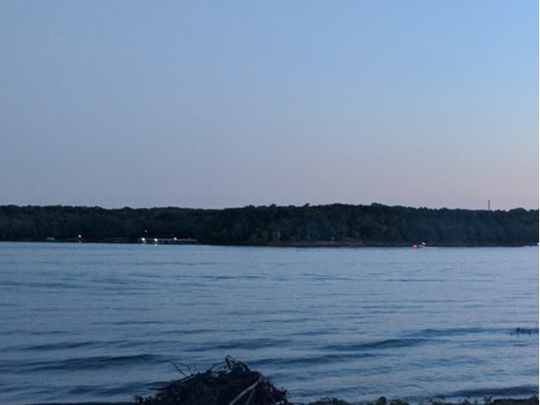 Table Rock Lake at dusk on the Fourth of July