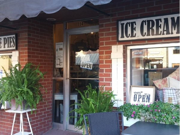 The Market in downtown Warrensburg is a great place to get homemade pies and ice cream