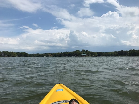 Headed out to watch the eclipse from the lake