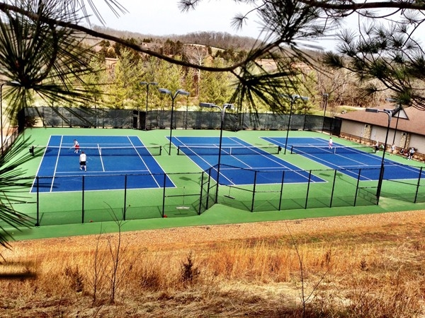 Lighted tennis courts at StoneBridge Village