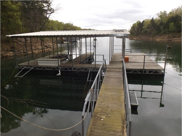 Private dock on Table Rock Lake