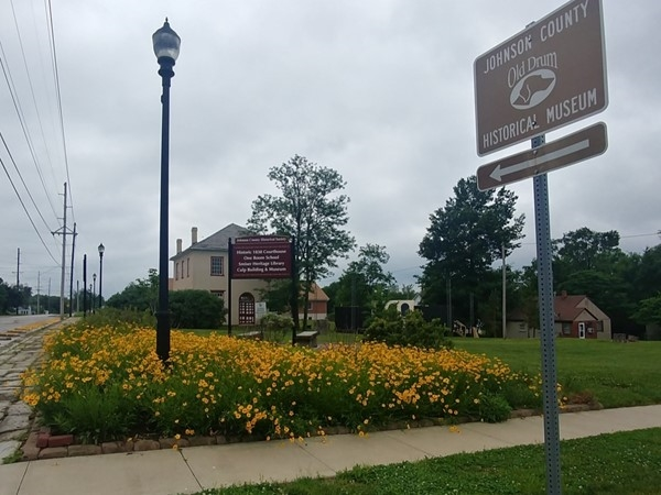 The flowers are in full bloom at the Johnson County Historical Museum