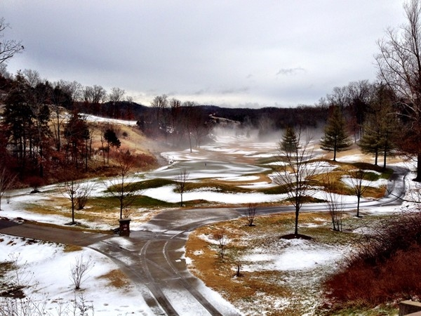 Winter View of #10 on Ledgestone Golf Course