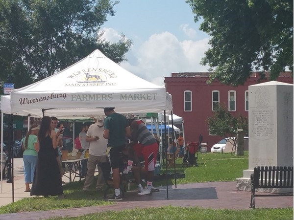 Warrensburg Farmers Market is located on the Johnson County Court House square