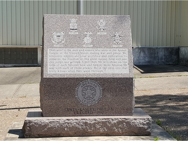 A monument to all who served at the American Legion. Thank you Veterans