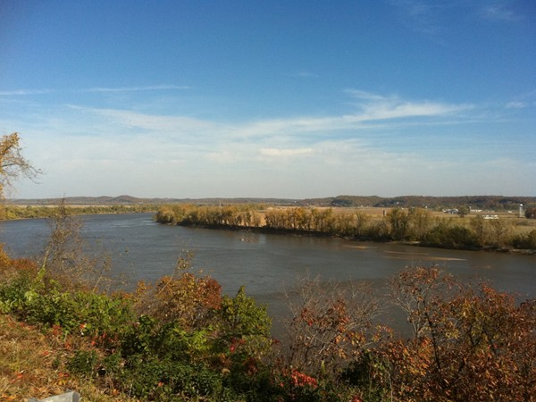 View overlooking Missouri River in the fall