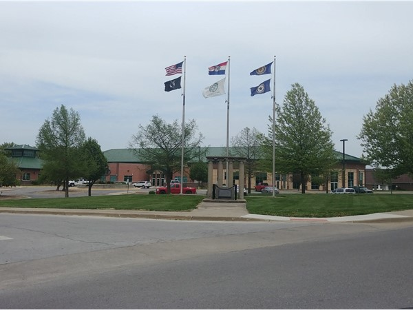 Flags fly high at the Warrensburg Community Center