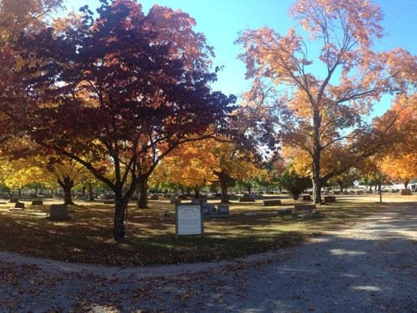 Cemetery on Mt. Branson in the fall