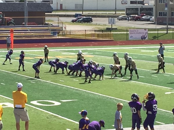 Saturday morning youth football at the Monett Football Field