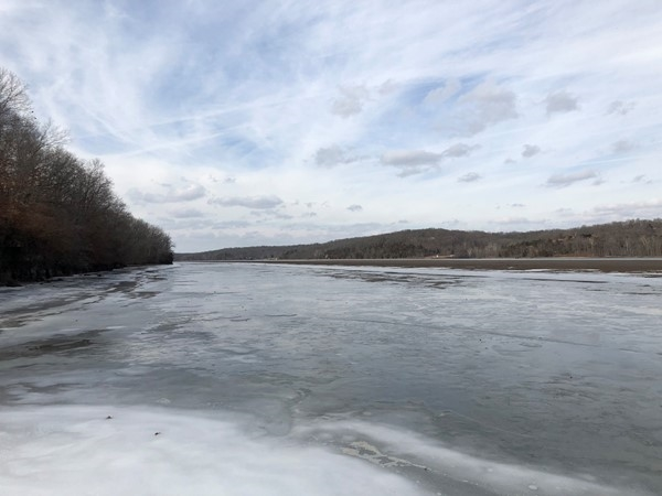 Spring like temps are melting the ice on the 77 mm at the Lake of the Ozarks