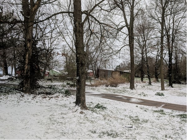 Ozark snowfall on April 7, 2018. Weather here can be beautiful and unpredictable at the same time