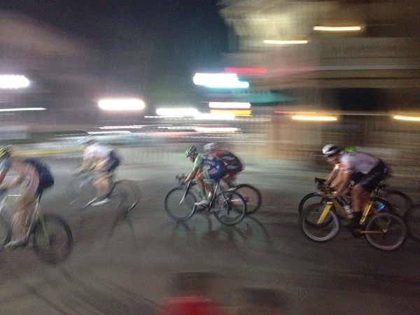 Criterium Bike Race taken from the patio at Fitters