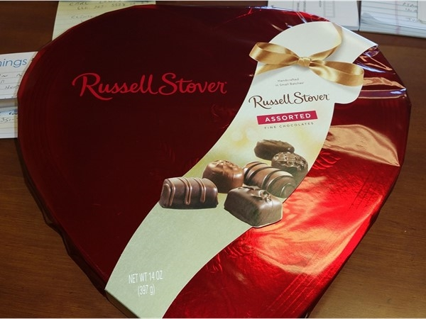 Do you need some Russell Stover chocolate after you mailed your taxes in last night