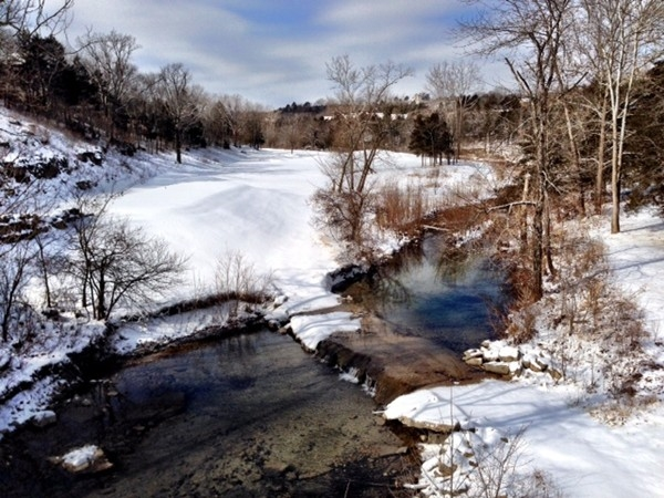 Roark Creek in winter at Ledgestone Golf Course, StoneBridge Village