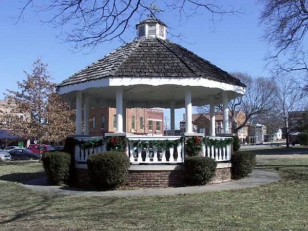 Gazebo on the square in Ozark