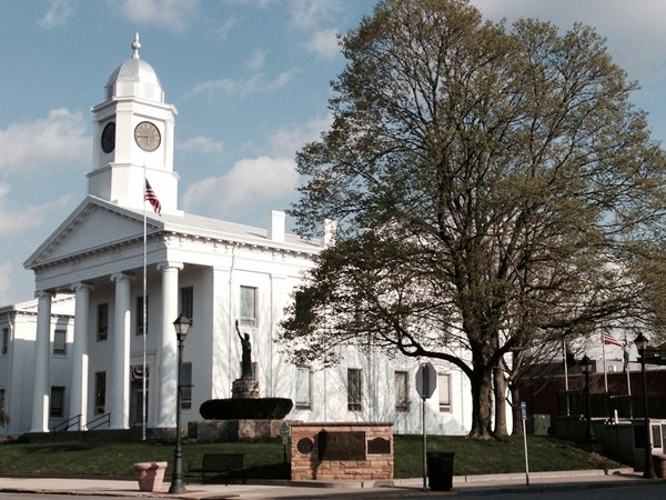 Historic Lafayette County Court House located on the square in Lexington
