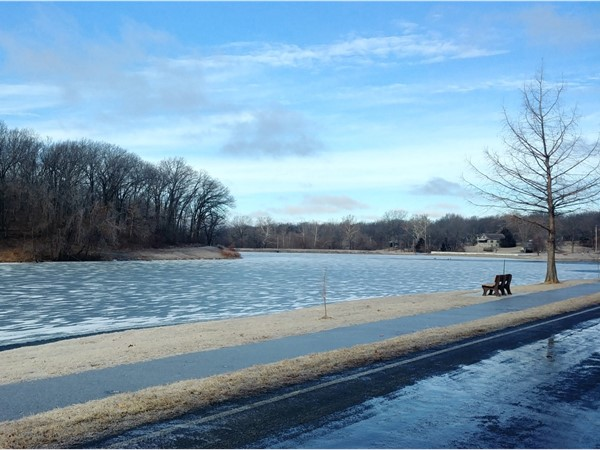 Lion's Lake in Warrensburg turned into a frozen beauty