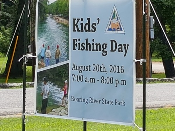 Kids Fishing Day August 20, 2016 at Roaring River