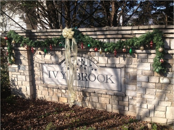 Christmas Decorations For Neighborhood Entrances : Ivy brook subdivision real estate homes for sale in