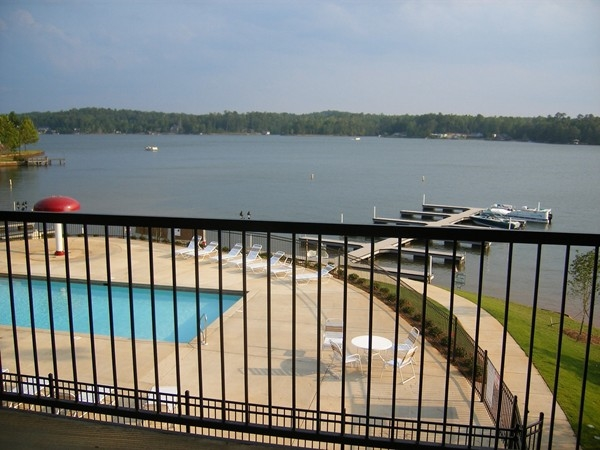 What a beautiful view of Lake Harding from Crepe Myrtle condos