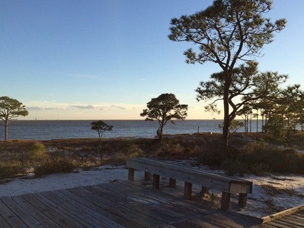 Looking southwest on Dauphin Island