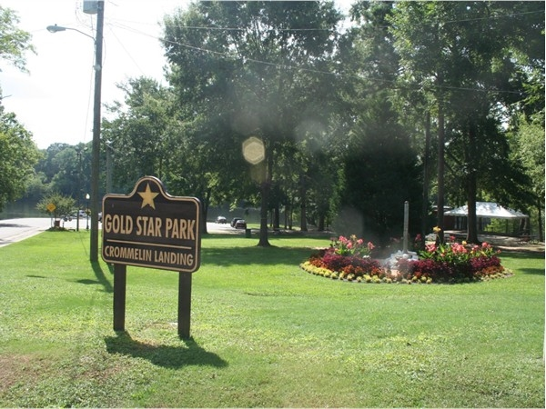 Entrance to Gold Star Park in the heart of Wetumpka