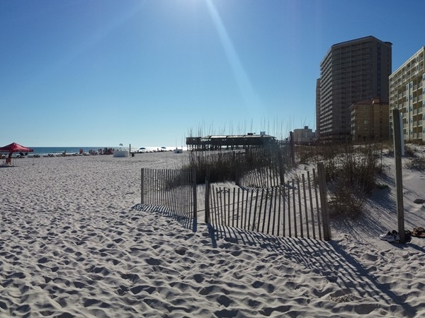 Beach view in March