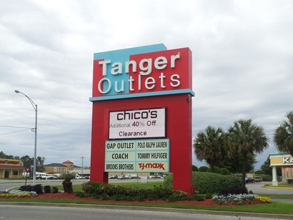 Tanger Outlets in Foley, with over 100 retailers, is a great way to spend an afternoon!