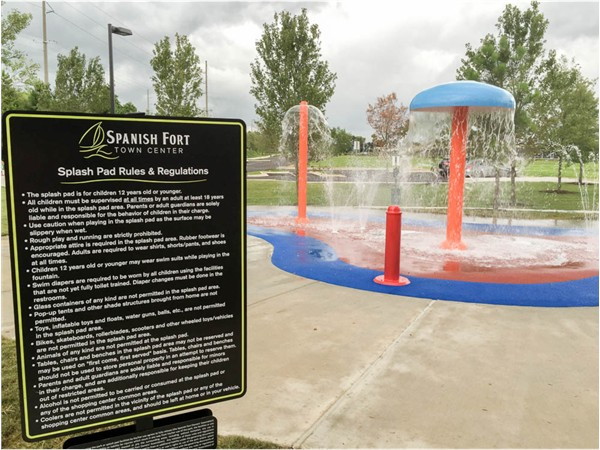 New park at Spanish Fort Town Center features a splash pad, playground and fitness zone