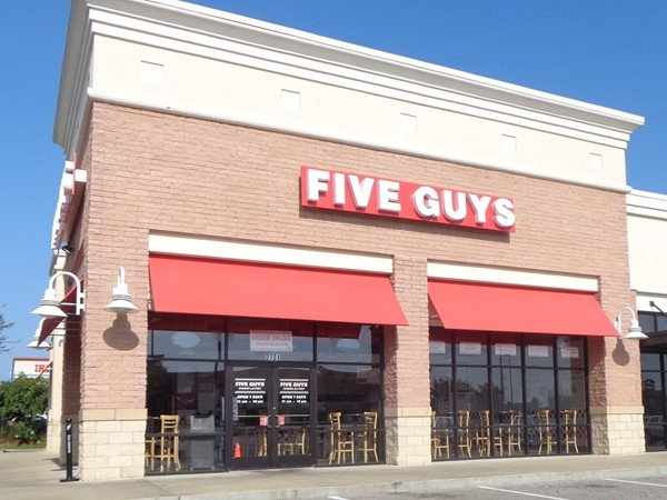 Five Guys is located in Prattville Town Center. Their french fries are absolutely amazing