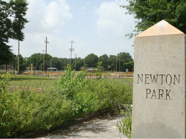 Prattville recreational park full of softball/baseball games and a playground