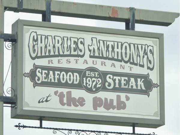 "Welcome to Charles Anthony's Restaurant, also know as ""The Pub"""