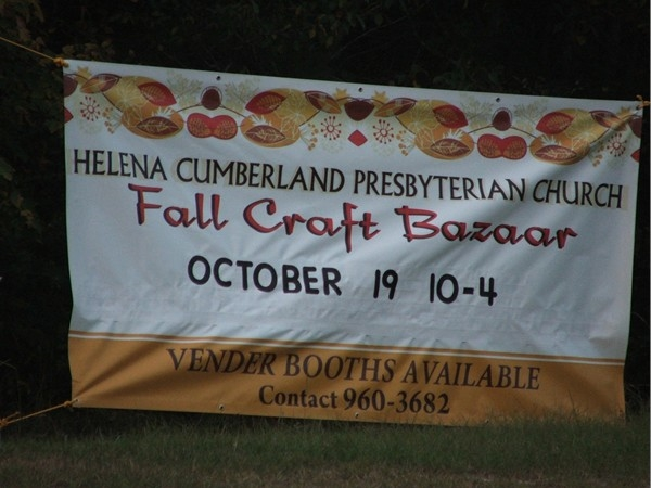 Perfect time for a Fall Festival Bazaar