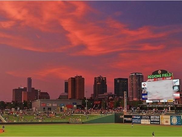 Sunset at Regions Field