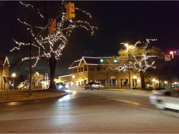 Beauty of the lights in the village