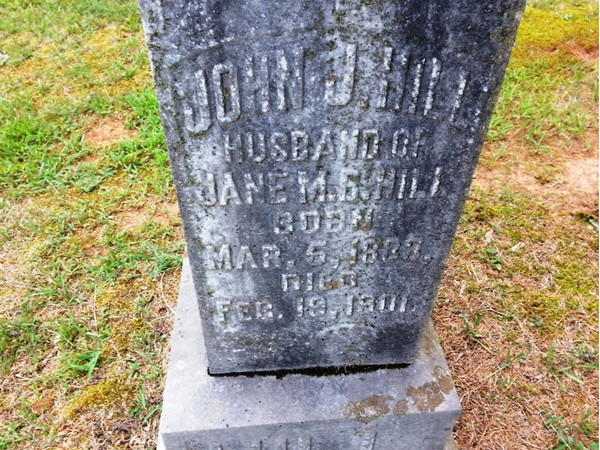 One of several Confederate Soldier grave markers at Concord Cemetery