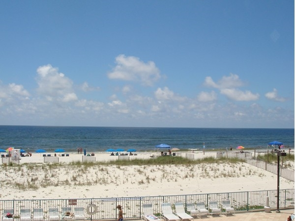 What a beautiful view from the balcony at Surf Side Shores!