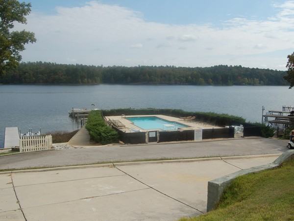This neighborhood has a marina and swimming pool, as well as covenants and HOA