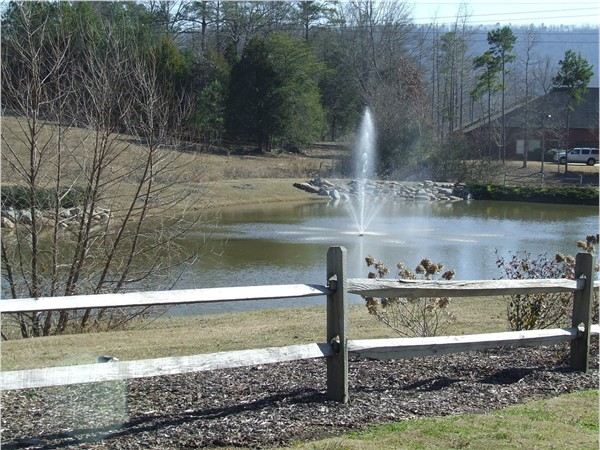 Enjoy the view of this beautiful fountain driving the streets of Southern Trace Community