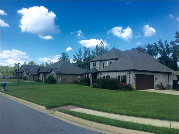 Street view of the larger homes section in Grand Pointe