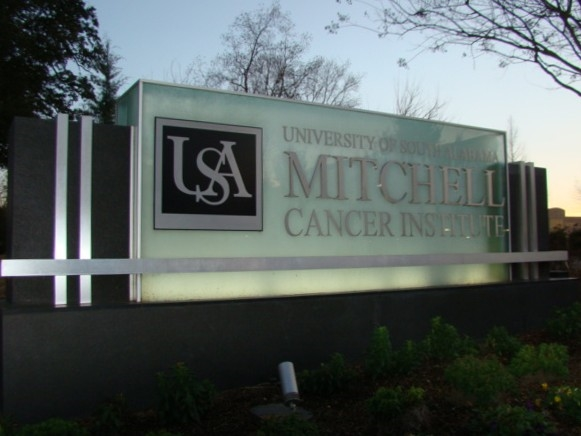 The USA Mitchell Cancer Center is off of Springhill Ave and offers state-of-the-art cancer care