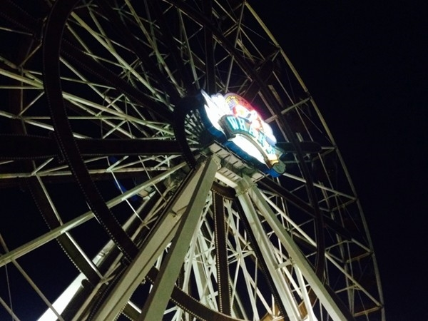 A night time ride on the ferris wheel gives you an incredible view!