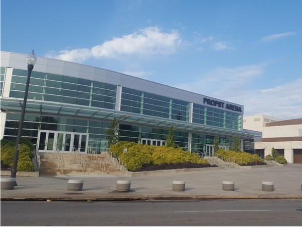 Propst Arena at the Von Braun Center in downtown Huntsville