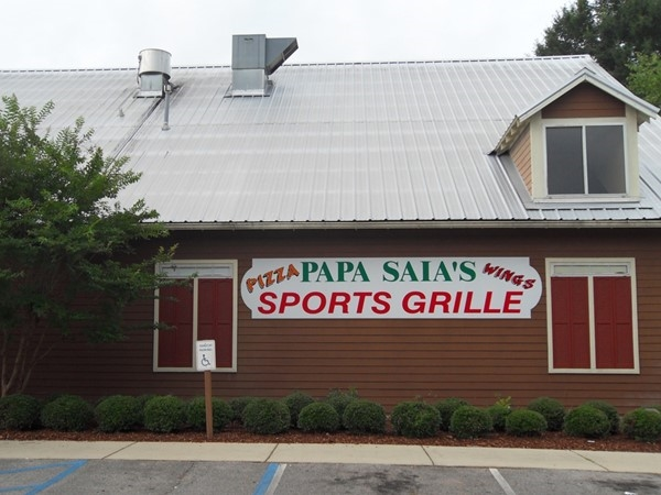 Papa Saia's is a great local spot for pizza