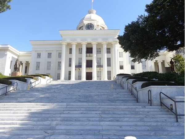 State Capitol Building in downtown Montgomery